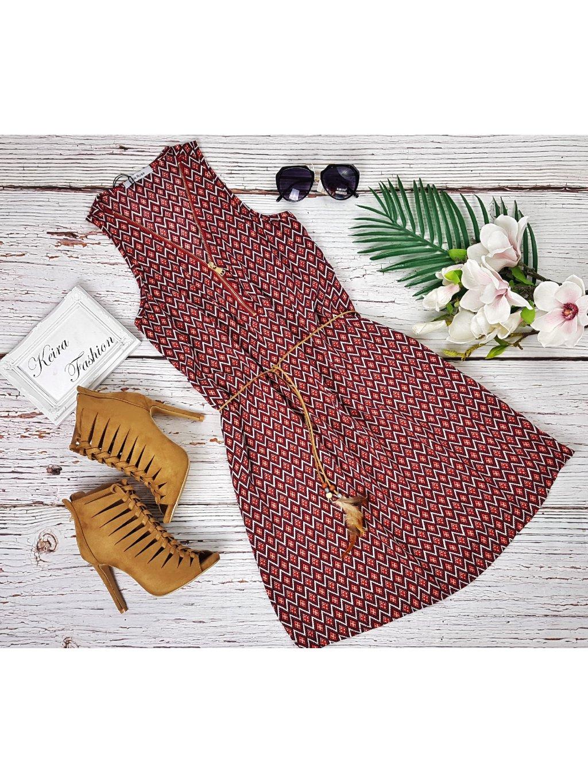 lacné letné šaty s opaskom
