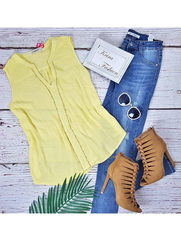 žltá letná blúzka
