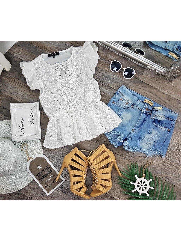 biela bavlnená blúzka
