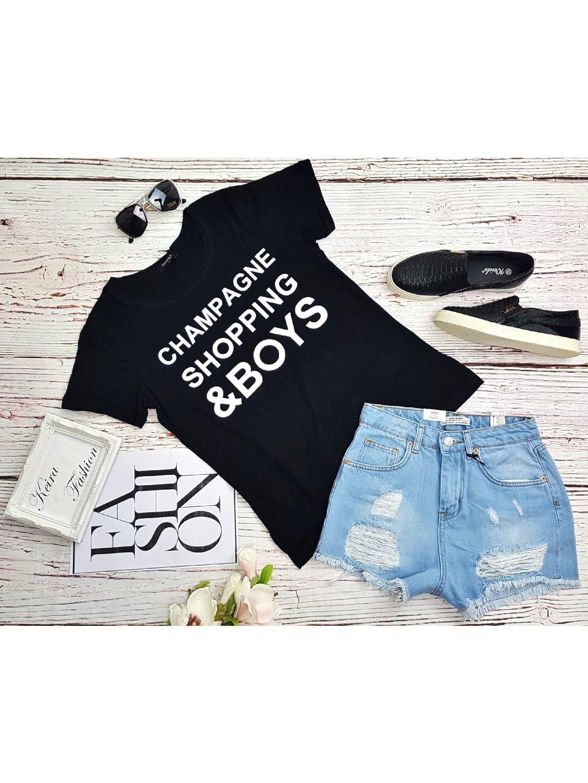 Čierne tričko Boys