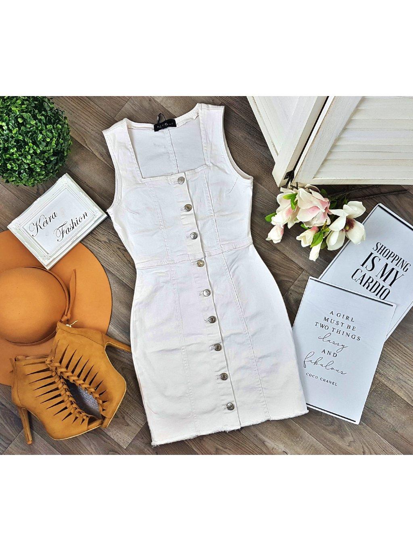 Riflové šaty Lili White