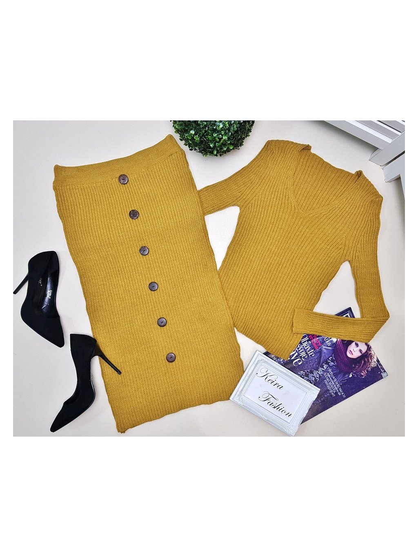pletený komplet sukňa a sveter
