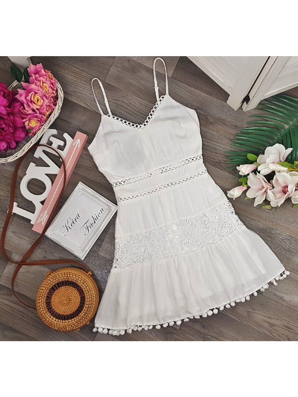 biele letné šaty