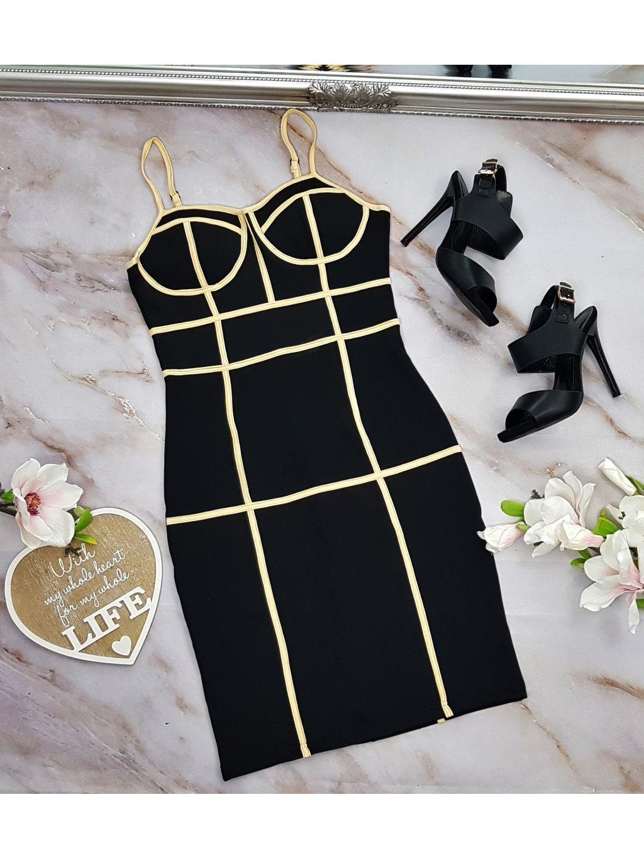 čierne party šaty
