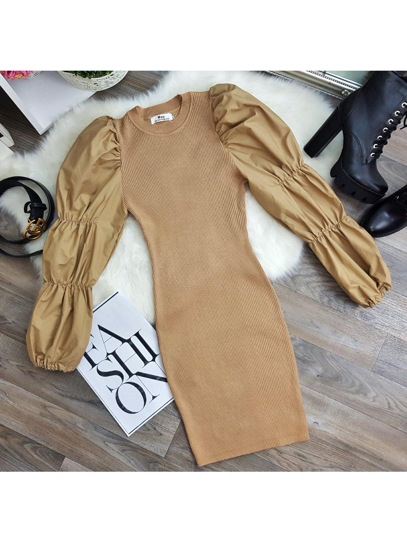 šaty s nadychanými rukavmi