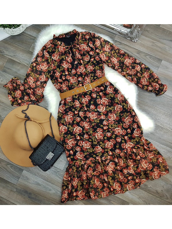 kvetované midi šaty