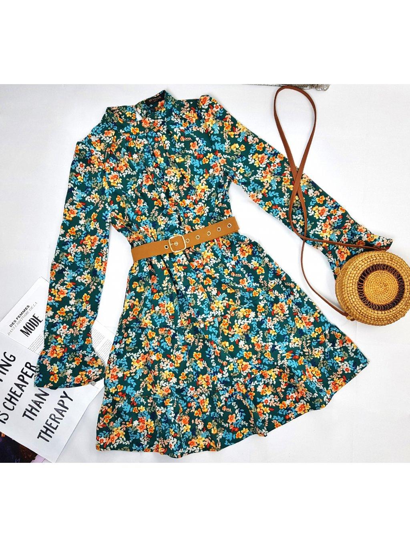zelené kvetinové šaty