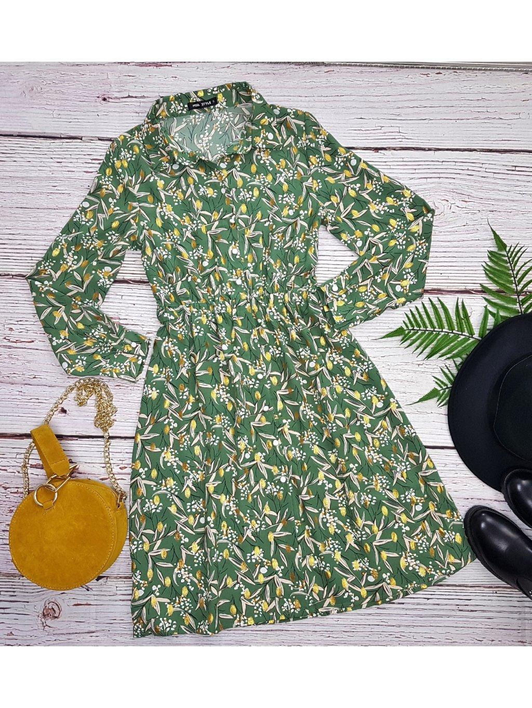 zelené kvietkované šaty