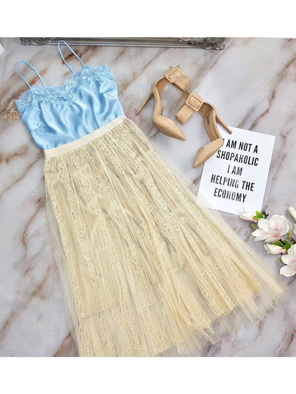 béžová tylová sukňa
