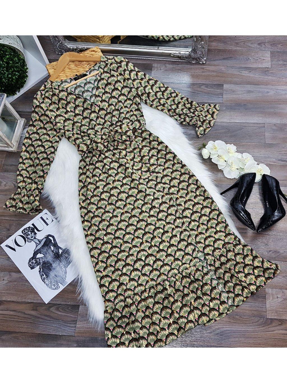 vzorované midi šaty