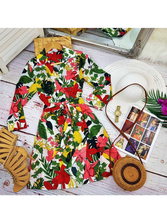 šaty s letným vzorom