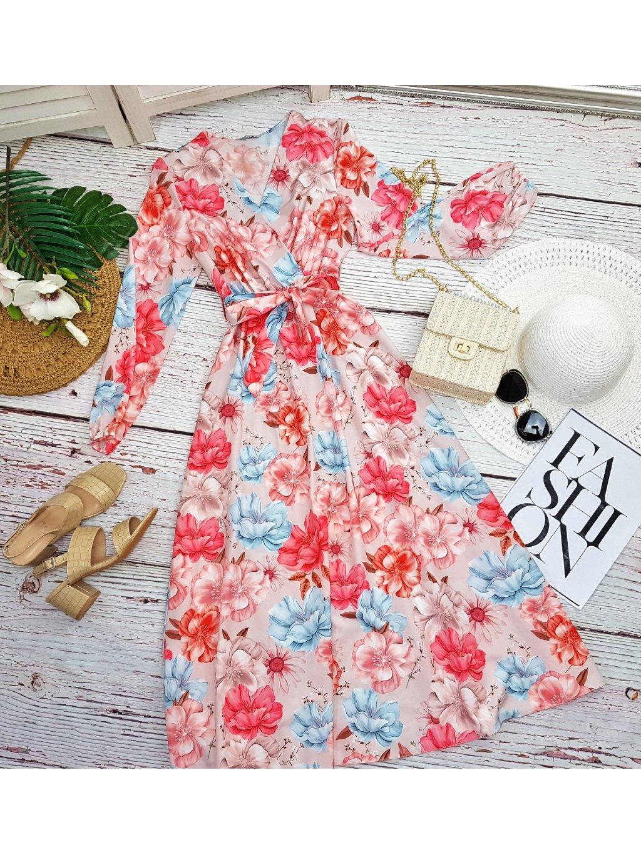 kvetované maxi šaty