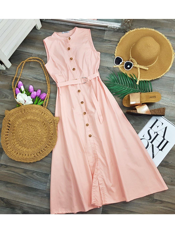 ružové midi šaty