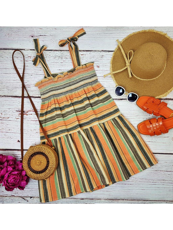 pásikavé šaty na leto