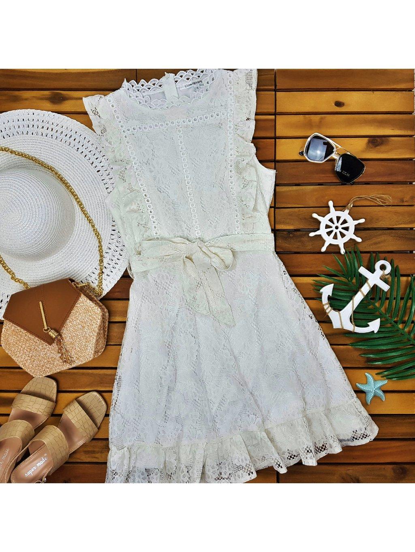 biele čipkované šaty letné