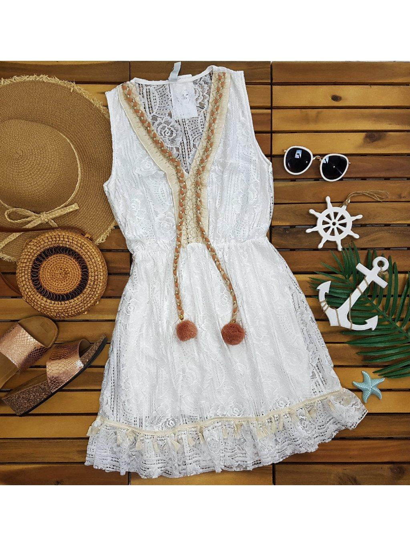 čipkované šaty na leto boho štýl