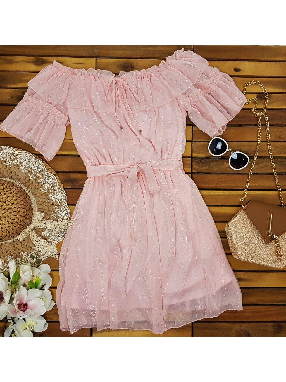 romantické ružové šaty