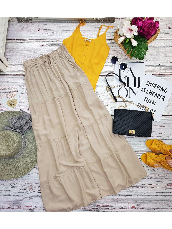 dlhá sukňa na leto