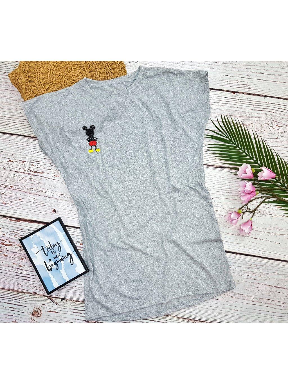 oversize tričko šaty mickey mouse