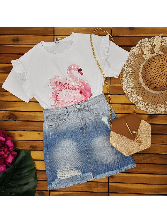tričko s labuťou