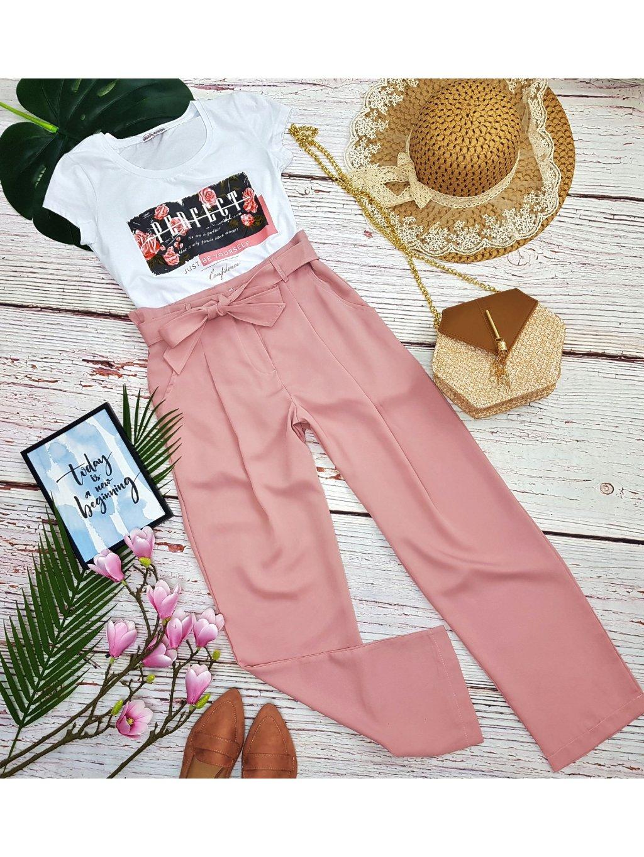 ružové dlhé nohavice