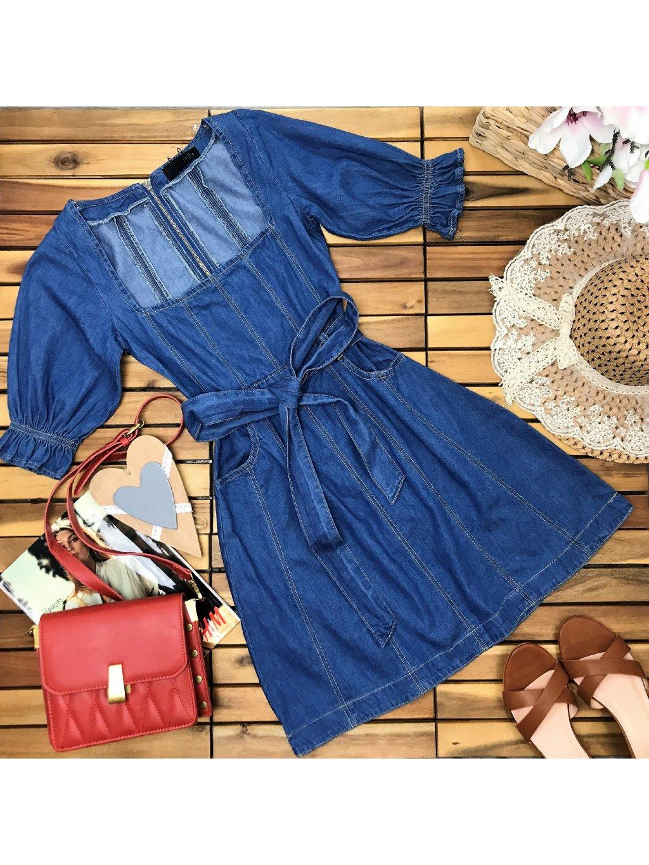 riflové šaty dámske