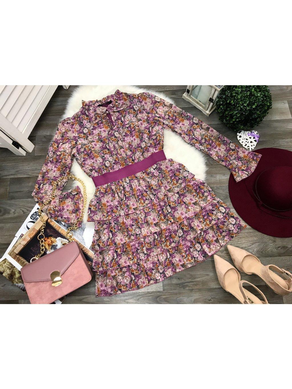 kvetinové volánové šaty