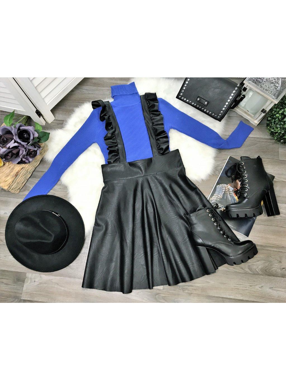 dámske svetrový rolák modrý