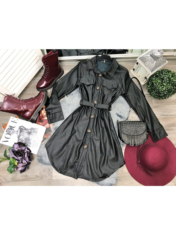 koženkové šaty dámske