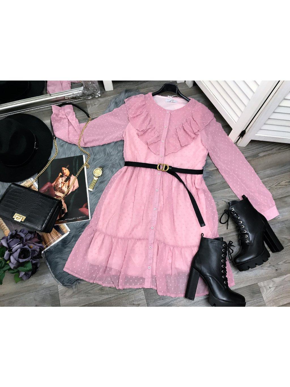 ružové romantické šaty