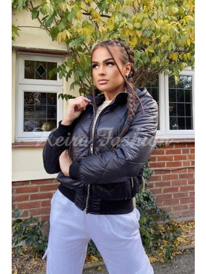 black diamond quilt hooded bomber jacket p9560 1106003 image