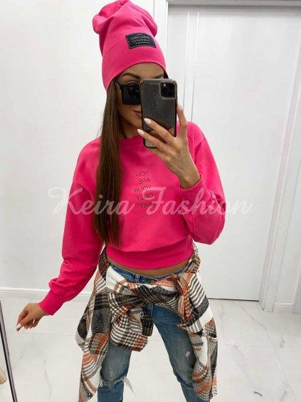 ružová dámska čapica