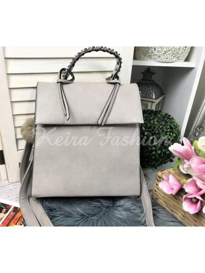 sivá koženková taška