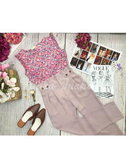 fialovo ružové nohavice