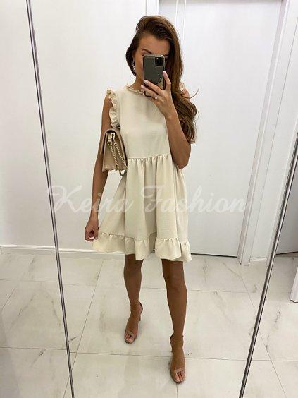 Béžové letné šaty