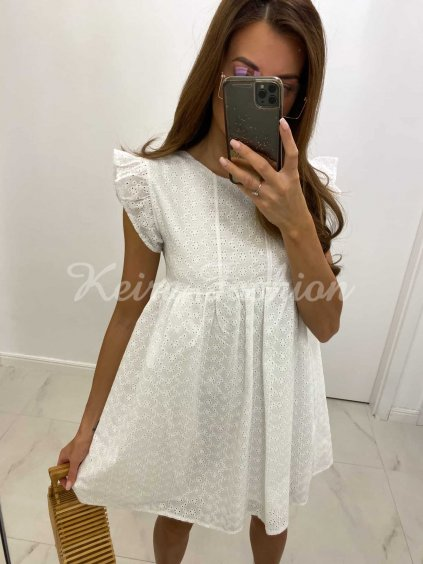 biele madeira šaty