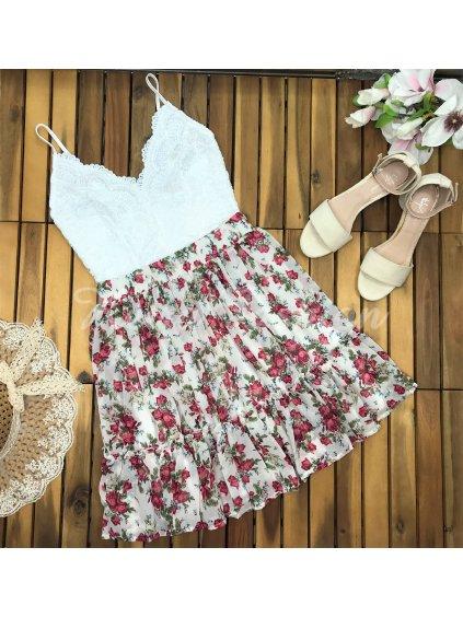 kvetovaná šifónová sukňa