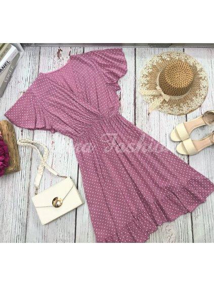 bodkované šaty