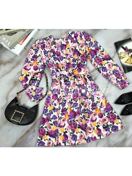 kvetinvové šaty s opaskom