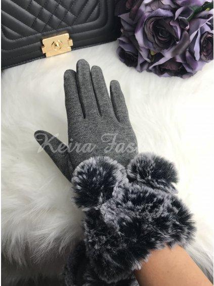 Rukavice Gray s kožušinou
