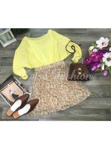 jarná letná kvetovaná sukňa