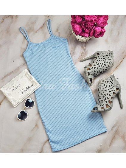 modré minišaty