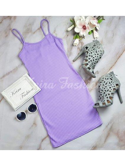 Šaty na ramienka Lilac