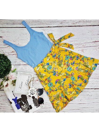 žltá kvetovaná sukňa
