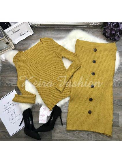 žltý pletená súprava