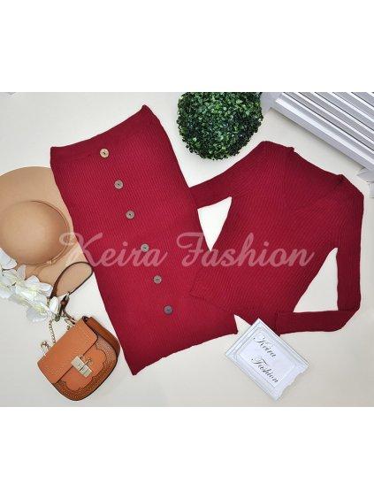 pletená súprava -sveter a sukňa