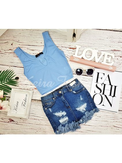 Crop top Powder Blue