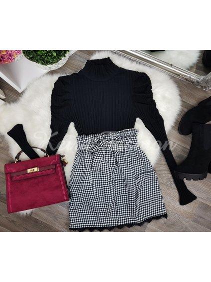 sukňa  s pepitovým vzorom