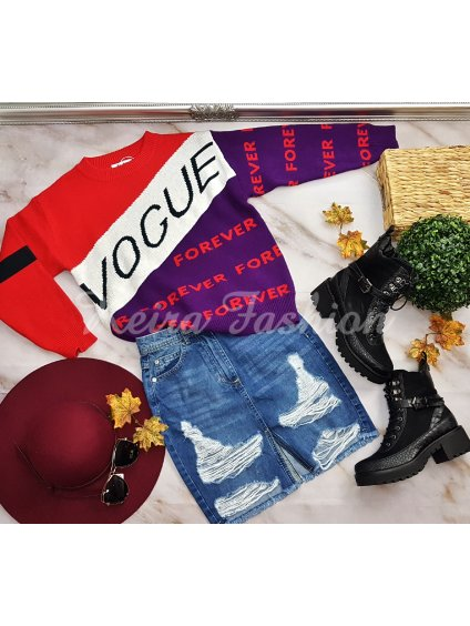 Sveter Vogue - fialový