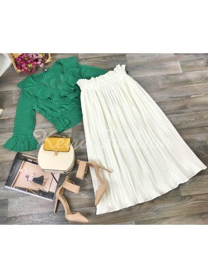 midi plisovaná sukňa